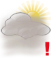 Partly cloudy with moderate fog